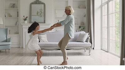 générations, music., joyeux, danse, famille, énergique, différent