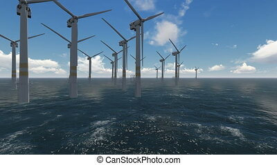 générer, mer, fonctionnement, énergie, turbines, propre, vent
