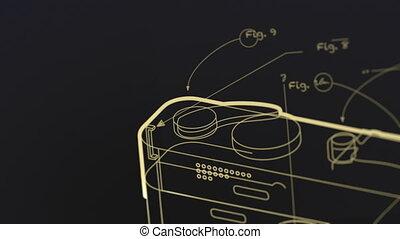 générique, appareil photo, plan, photographique, animation