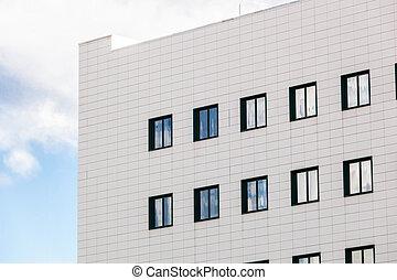 générique, bâtiment, bleu, sky.