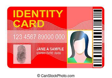 générique, carte identification, empreinte
