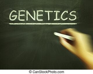 génétique, moyens, gènes, craie, hérédité, adn