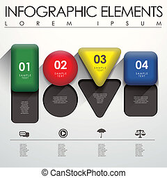 géométrie, infographic, éléments, 3d