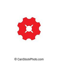 géométrique, éclat, symbole, dent, machine, logo, conception, vecteur