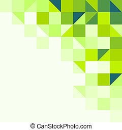géométrique, arrière-plan vert