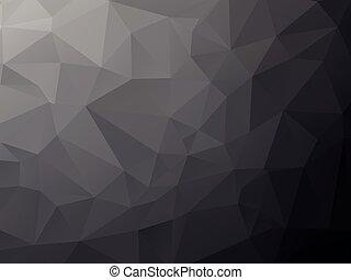 géométrique, fond, profond, noir
