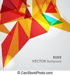 géométrique, jaune rouge, transparency.