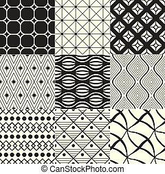 géométrique, noir, /, fond, blanc