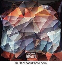 géométrique, résumé, moderne, triangulaire, vecteur, arrière-plan.