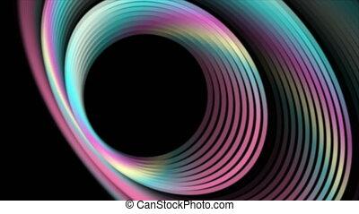 géométrique, technologie, lustré, mouvement, résumé, holographic, fond