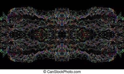 g, lumière, arrière-plan., iridescent, fuite, hypnotiser, kaléidoscope