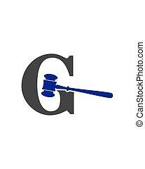 g, marteau, logo