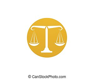 gabarit, icônes, justice, symboles, avocat, logo