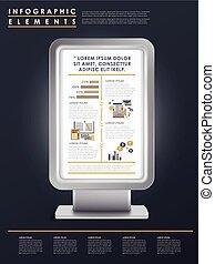 gabarit, infographic, conception, commercialisation, concept