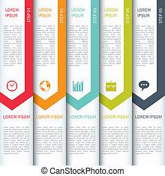 gabarit, infographics, moderne, minimalistic, multicolour