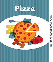 gabarit menu, pizza