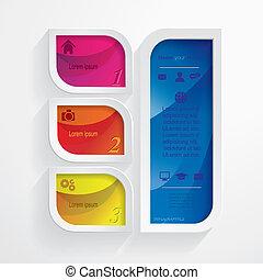 gabarit, moderne, vecteur, infographic, conception