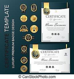 gabarit, nouveau, certificat
