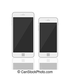 gabarit, réaliste, 3d, smartphone