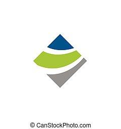 gabarit, swoosh, eps, design., vecteur, coloré, illustration, diamant, logo, 10.