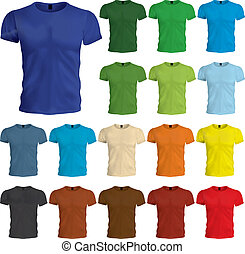 gabarits, tshirt, coloré