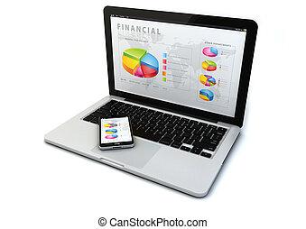 gadget, concept, financier
