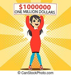 gagnant, dollar, million, une