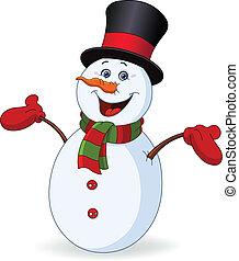 gai, bonhomme de neige