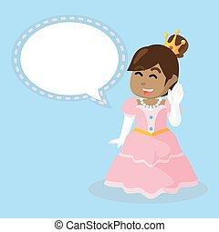 gai, callout, princesse, africaine