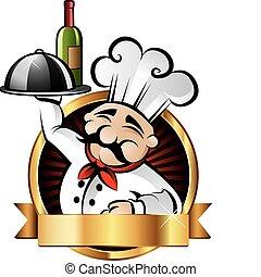 gai, chef cuistot, illustration