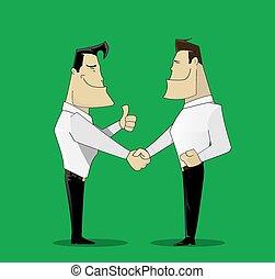 gai, deux, homme affaires