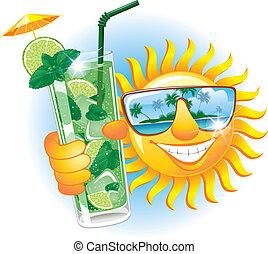 gai, soleil, cocktail