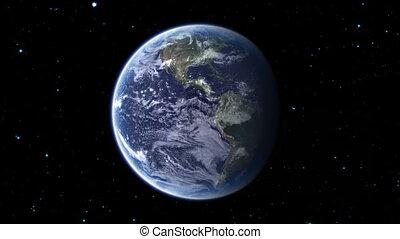 galaxie, 1, zoom, la terre