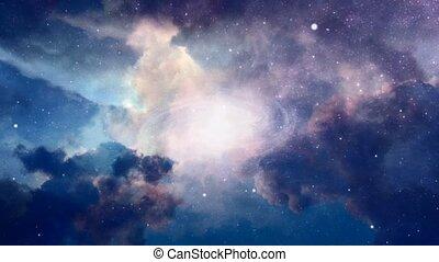 galaxie, ciel