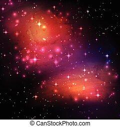 galaxie, fond, espace