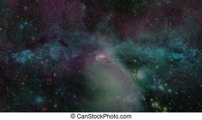 galaxie, mouche
