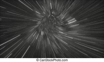 galaxie, par, lumière, 02, vitesse, 4k, voyage, espace, mouche