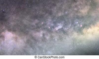 galaxie, zoom, profond