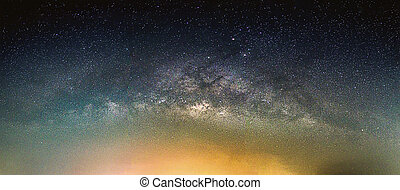 galaxy., laiteux, ciel, stars., manière, nuit, paysage