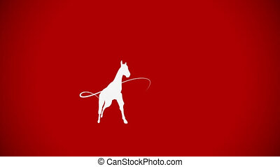 galop cheval, whiteboard, espace, animation, copie, toile de fond