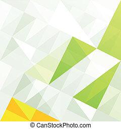 gamme, eps10, résumé, arrière-plan., vert, vecteur, géométrique