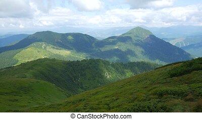 gamme, panorama montagne, carpathians