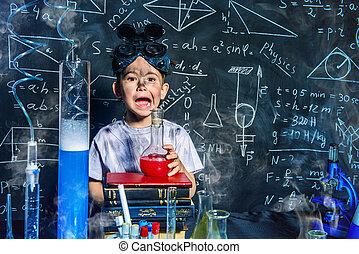 garçon, laboratoire
