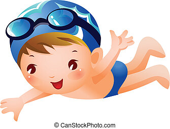 garçon, nageur