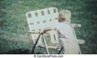 garçon, outside-1963, jouer, vendange
