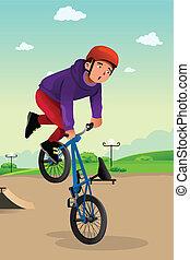 garçon, tour force vélo