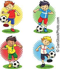 garçons, football