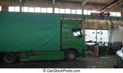 garage, camion