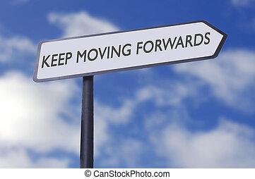 garder, avants, en mouvement