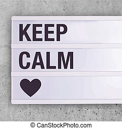 garder, calme, signe, carrée, social, editable, média